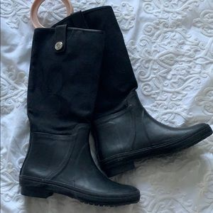 AUTHENTIC Coach Rainboots - Black